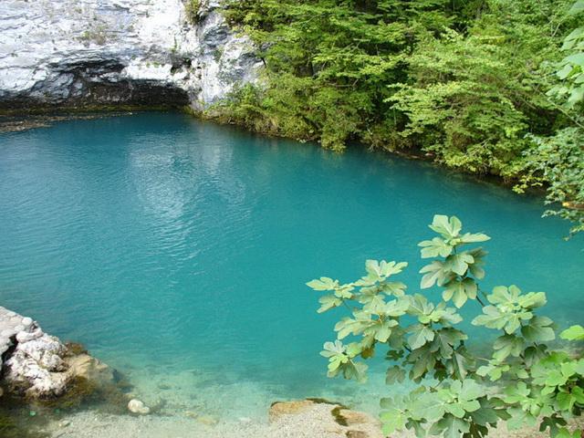 goluboe ozero Дорога к озеру Рица